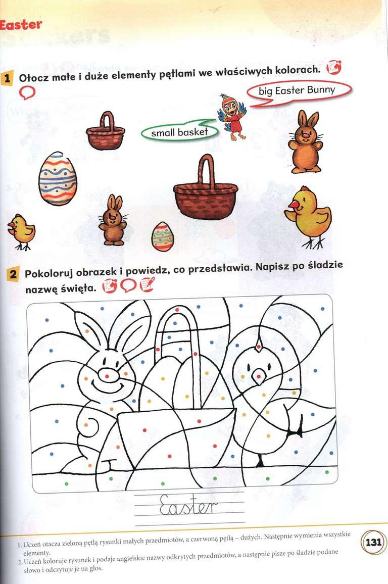 karta pracy, wielkanoc, jajka, pisanki, angielski