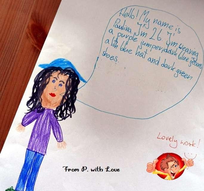 dziewczynka rysunek opis postaci